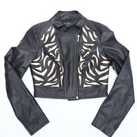 GUESS BY MARCIANO LEATHER JACKET WOMEN 100% GENUINE LEATHER SIZE S NEW WITH TAG