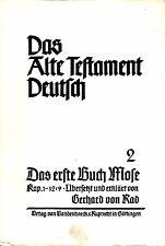 Das Alte Testament Deutsch 2 / Das erste Buch Mose Kap.1-12, 9 / Gerhard von Rad