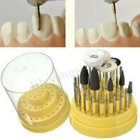 41Pcs Dental Lab Silicone Rubber Rotary Tungsten Steel Polishing Burs 2.35mm 1