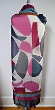 NEW LORO PIANA $1,650 abstract portrait print cashmere silk large scarf shawl