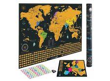 Mapa del Mundo Rascar Mapamundi Regalo Mapa Europa Aventuras Estados USA Bandera