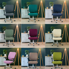 Solid Color Office Stretch Chair Covers Anti-dirty Computer Chair Removable