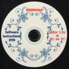 Bernina Software Instructional Dvd for Editor Lite & Embroidery Control on Pc