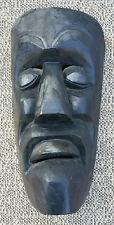 Ancien masque en bois peint grotesque  art pop Afrique? french antique