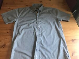 Hazard Mens Grey Shirt Short Sleeved Size Large Chest 42-43 Cotton Mix
