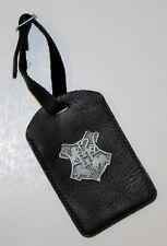 Harry Potter Hogwarts Metal Crest Faux Leather Black Suitcase Bag Tag