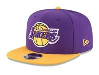 Los Angeles Lakers New Era 9Fifty Original Fit Basic OTC 2 Tone Snapback Hat Cap