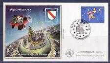 RARE  BLOC   CNEP   NUM.17   EUROPHILEX 1993   sur enveloppe