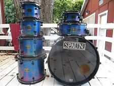Spaun 7 pc 100% custom maple drum set ~ Exotix Graphics Sparkle ~ DW brackets