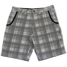 Oakley DIVIDED Shorts Navy Grey Size 32 M Mens Golf Plaid Casual Walkshort
