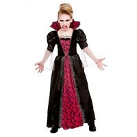 *NEW* Victorian Vampiress - Girls Vampire Fancy Dress Halloween Costume