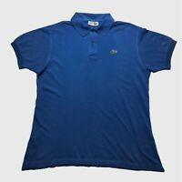 Mens Vintage Lacoste Polo Shirt XL/6 Blue Short Sleeve Cotton
