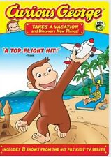 CURIOUS GEORGE TAKES A VACATION AND DISCOVERS NEW THINGS New Sealed DVD