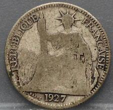France - Frankrijk Colonie - 10 cent 1927 A Indo China - silver