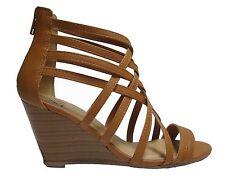 Muno-s Black Tan Beige Blush Wedge Gladiator Caged Heels Sandals Booties Shoes