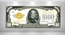 LIMITED EDITION - US 1934 $1,000 GOLD CERTIFICATE NOTE - LARGE CANVAS ARTWORK