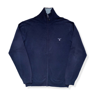 Vintage GANT Zip Jumper | Large L | Black Sweatshirt Stretch Cotton