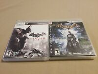 Lot of 2 Playstation 3 PS3 Batman Arkham City and Arkham Asylum TESTED COMPLETE