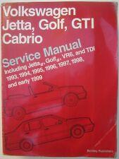 1993-1999 VW Jetta Golf GTI Cabrio VR6 TDI - Off. service repair manual; Bentley