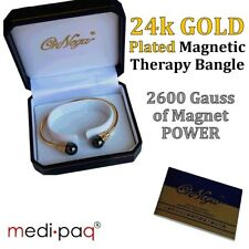 Magnetic Bracelet Arthritis - 24ct Gold Plated Therapy Bangle Pain Relief UK