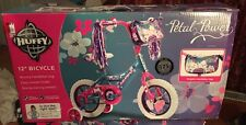 """New listing Huffy Petal Power Girl's 12"""" Bicycle With Training Wheels"""