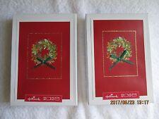 Hallmark Christmas Cards 2 Boxes 24 Cards 26 Envelopes Total (12 Cards Each Box)