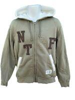 NEW Vintage NIKE Sportswear Lined Track and Field Fleece Hoodie Jacket Green M