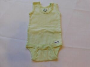 Gerber Baby Girl's Sleeveless One Piece Bodysuit Size 0-3 Months Lt Green GUC