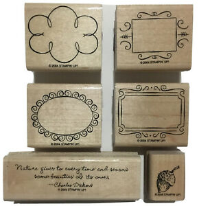 Stampin UP! Lot of 6 2004 Borders 2005 Charles Dickens Nature Gives 2006 Acorn