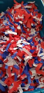 """Red, white & blue Confetti Flame Proof 3/4 x 3"""" about 4.5 pounds as pictured new"""