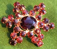 """Pin Faux Jewels Lovely 1.5"""" Floral Brooch"""