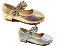 New Girls Children sparkly glitter Flat party shoes dressing up Dorothy occasion