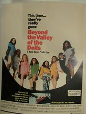 Russ Meyer's Beyond The Valley Of The Dolls 1970 Original Window Card