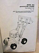 Case W18 Amp W20 Articulated Loader Service Manual 9 71698 And Parts Catalog F1169