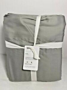Pottery Barn King Tencel Lyocell Gray Sheet Set 320 Thread Count Fair Trade NWT