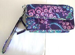 New Vera Bradley Lighten Up All-in-One Crossbody Bag Phone Holder #180901-496