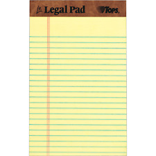 Tops The Legal Pad Jr 5 In X 8 In Canary 12 Count