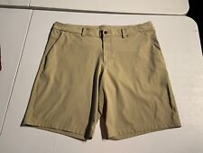 Lululemon Men's ABC Commission Chino Shorts Khaki Tan Size 40