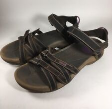 Teva Tirra Sandals Sport Water Shoes Women's 8.5 Brown Strappy