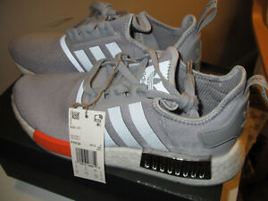 Men's Adidas Originals NMD R1 Shoes Halo Silver/Bahia Orange Size 8.5 FY5730 NEW