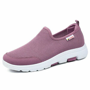 New Flat-Bottom Mesh Women's Casual Shoes Walking Shoes Non-Slip Sneakers