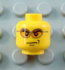 LEGO City Police Minifigure Head Body Part with Orange Sunglasses and Smirk