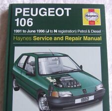 PEUGEOT 106 1991 ~ 1996 PETROL & DIESEL HAYNES SERVICE WORKSHOP REPAIR MANUAL