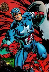 1994 Fleer MARVEL UNIVERSE Card Maximum Carnage #19 Captain America