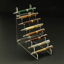 8 Pen Horizontal Premium Acrylic Pen Display Stand
