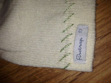 girls/womens one size beeny hat FIRETRAP cream with green glitter 100% authentic