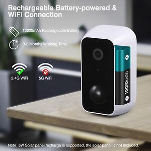 Floureon 1080P Kabellos Überwachungskamera WLAN WiFi IP Kamera mit Akku Batterie