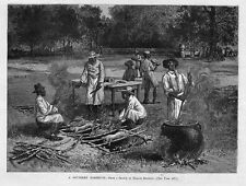 BARBEQUE SOUTHERN PIG ROAST SPITS FIRE TRENCH EMBERS NEGROES SOUTHERN BARBEQUE