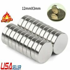 2 50x N52 12mm3mm Super Strong Round Disc Magnets Rare Earth Neodymium Magnet