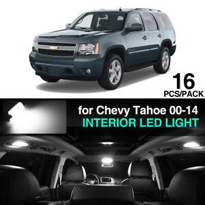 16 x Ultra White LED interior Lights Kit for Chevy Tahoe 00-06 07-14 GMC Yukon